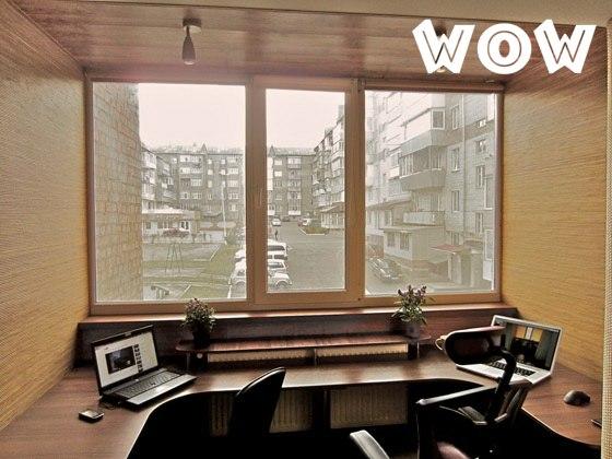 Кабинет на балконе, кабинет на лоджии, фото