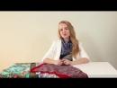 Как завязать павловопосадский платок. Агния Балабан