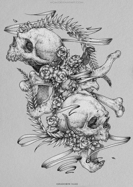 #черепа@tattoobase