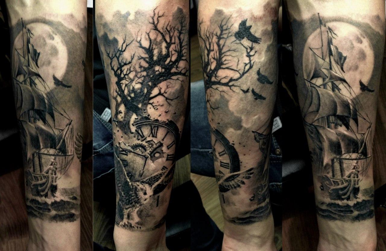 Татуировки на руку до локтя