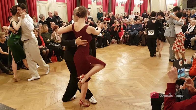 Les 5 couples finalistes au Championnat de France de Tango 2018 @ Paris - Avec Patrice Chainet