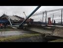 Обрушение моста над Транссибирской магистралью