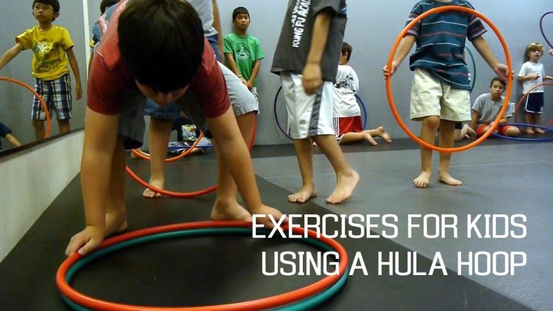 Basic Exercise for Kids using a hula hoop