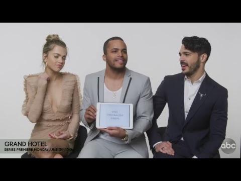 Интервью актерского состава «Гранд Отель» для канала ABC