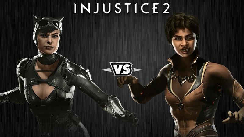 Injustice 2 - Женщина-Кошка против Виксен - Intros Clashes rus