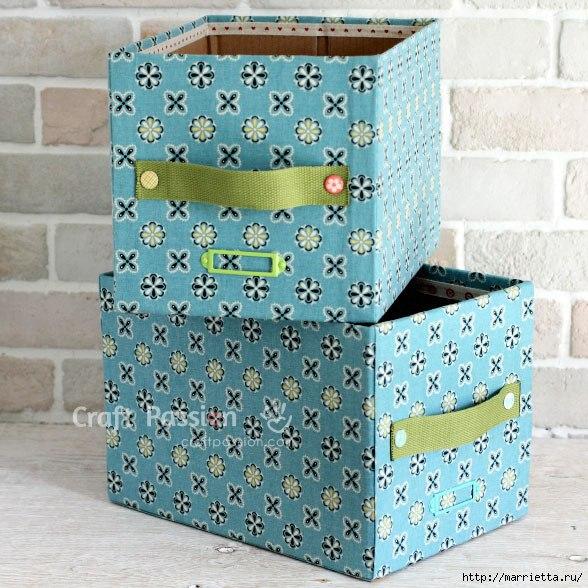 Ящики для хранения из картонных коробок… (7 фото)