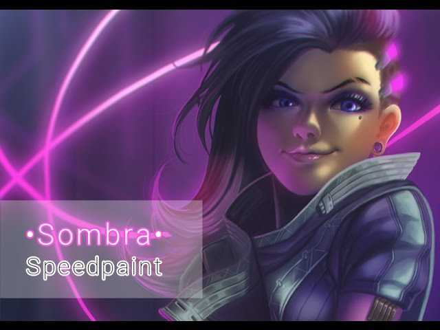 Sombra (Overwatch) • Digital Painting Process Video • Timelapse • Speedpaint