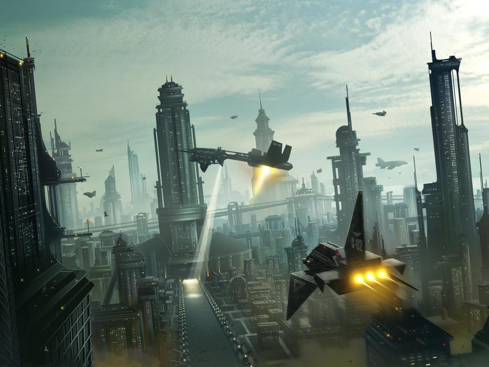 Концепт-арт города будущего