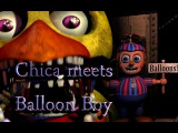 [SFM FNAF] Chica Meets Balloon Boy