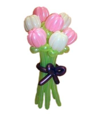 №326. Цветы из шаров «Тюльпаны розовые»