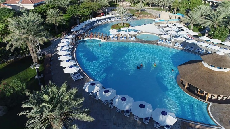 Fujairah Rotana Resort Spa Drone Video wText