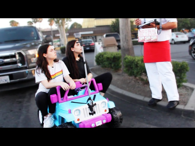 DRIVING THRU IN-N-OUT IN A TOY CAR w MEGHAN CURRIE! ~episode 1~