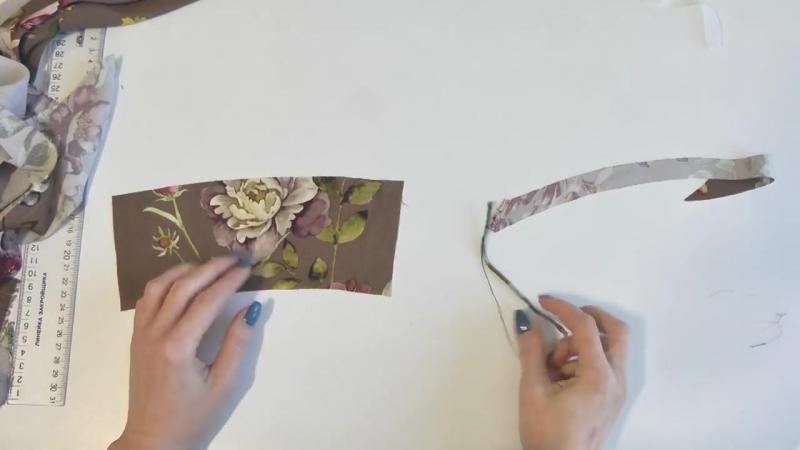 Шью и показываю романтическое платье с застежками на руликовых петлях