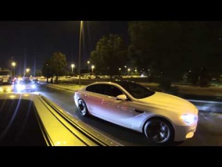 BMW M5 E60 (Mr boomerang) VS bmw m6 gran coupe 2014 from 40 to 180 km (M5 WIN)