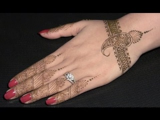 How To Make Henna Design : Indian Pakistani Mehendi Hand : Learn Henna Step By Step