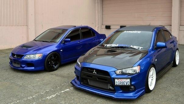 Mitsubishi Lancer Evolution IX vs . Mitsubishi Lancer Evolution X