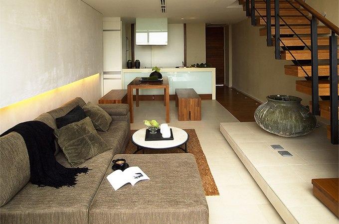 Интерьер двухуровневой квартиры-студии 60 м в Хуахине / Таиланд - http://kvartirastudio.