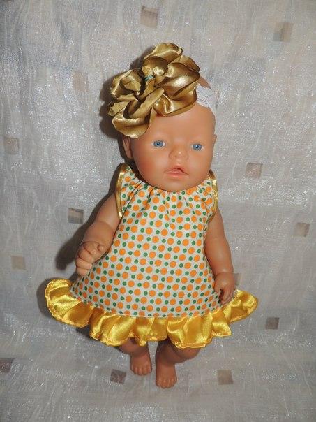 Как сделать одежду для куклы беби анабель видео