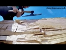 Изготовление тесаной доски