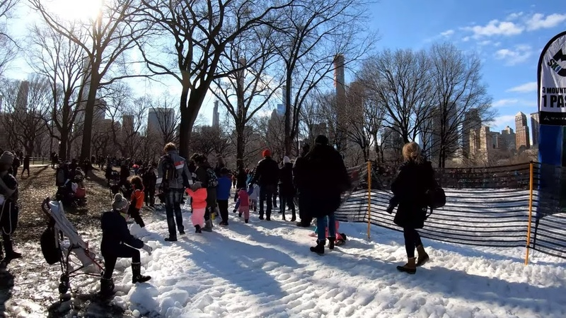 ⁴ᴷ⁶⁰ Walking NYC Central Park Winter Jam to 68th Street - Hunter College, Upper East Side