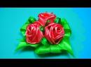 РОЗЫ из лент. Простой способ! Мастер-класс / Ribbon Rose Tutorial / ✿ NataliDoma
