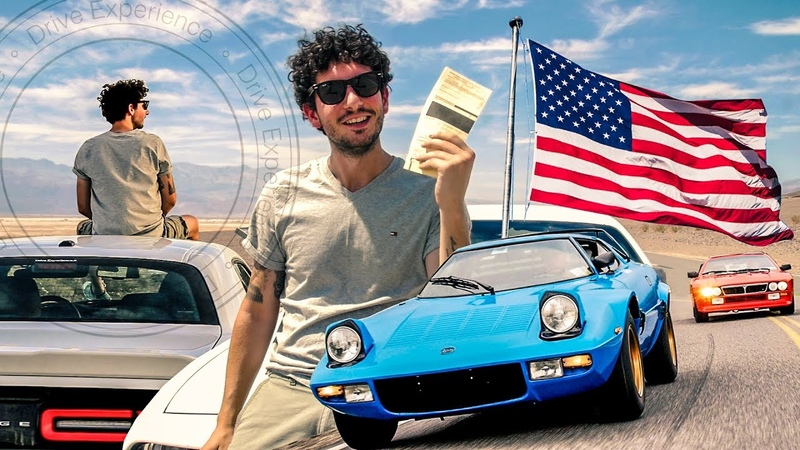 USA on the Road Lancia Stratos 037 Dodge Challenger - Davide Cironi Drive Experience