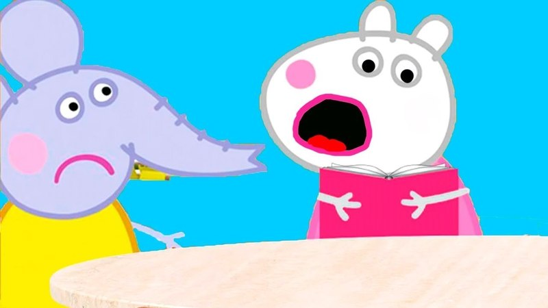 Свинка Пеппа мультфильм - Сьюзи прочитала дневник Свинки Пеппы