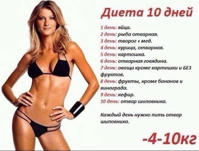 диета сбросить 10 кг за месяц