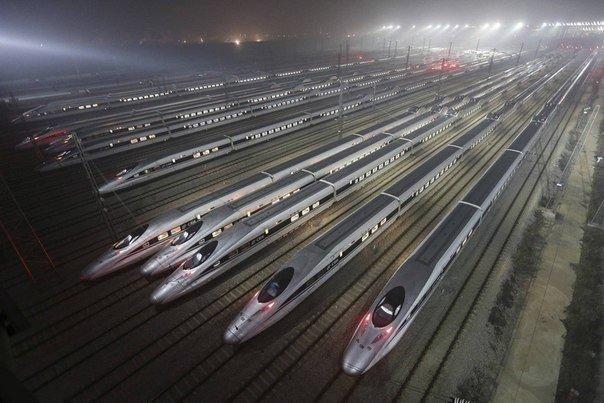 Высокоскоростная железная дорога, Китай