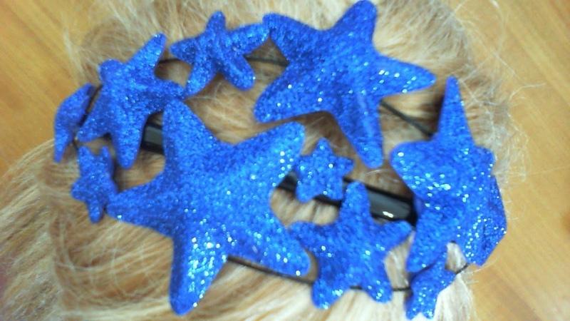 DIY МК Как сделать звездный обруч для звездных принцесс