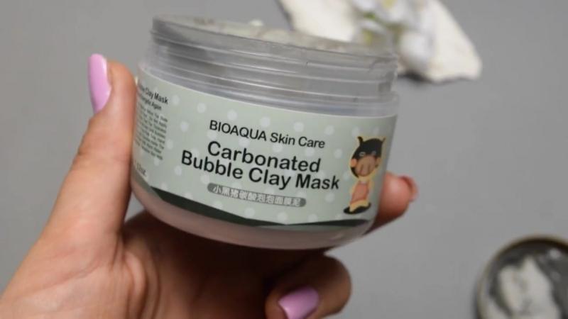 Обзор Очищающая кислородная карбонатная маска Bioaqua