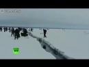 Как рыбаков на льдине уносит