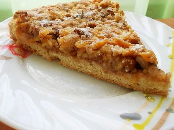 Венгерский ореховый пирог с яблоками