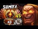 Sumiya Invoker God vs TI WINNER 2 PRO PLAYERS GG Impossible Game Dota 2