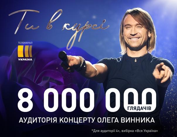 Телетрансляцію шоу Олега Винника «Ти в курсі» подивився кожен п ятий  українець! 480f374107de8