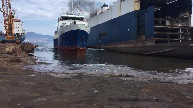VULKAN KSUDACH Gemisi 28072017 (TEMURTAS SHIP RECYCLING)LASTSTOP - YouTube