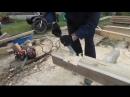 Строительство бани (насадка на бензопилу)