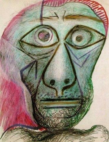 """Пабло Пикассо """"Автопортрет, 30 июня 1972"""""""