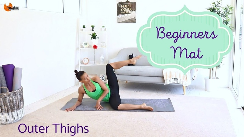 Pilates Beginners workout Outer Thigh Workout - BARLATES BODY BLITZ Beginners Mat Outer Thighs