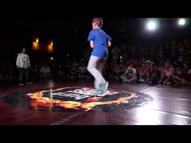 Bboy Killa vs Raptor BURN BATTLE SCHOOL 2014
