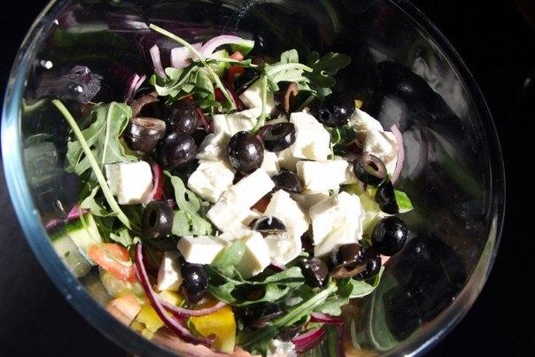 Греческий салат с рубленым мясом фоторецепт