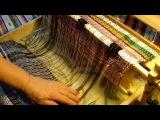 Обработка бахромы коврика узлом Клеверный лист