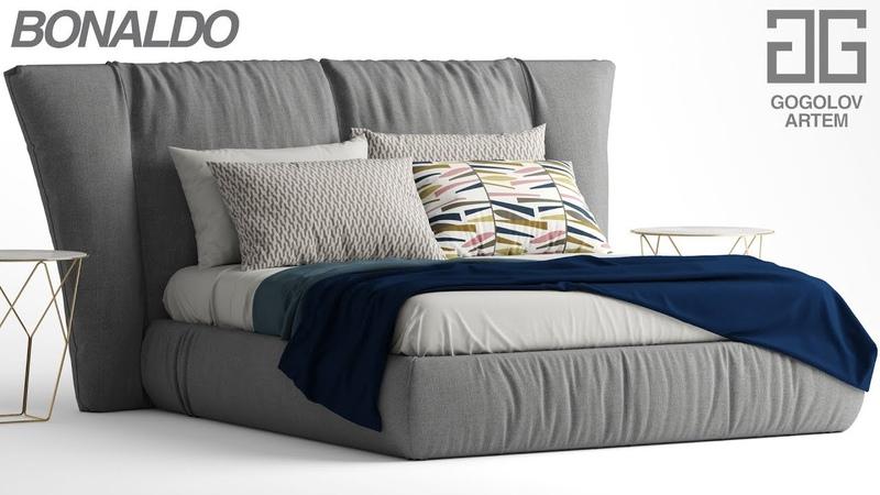 №88.Моделирование кровати Bonaldo YOUNIVERSE в 3d max и marvelous designer