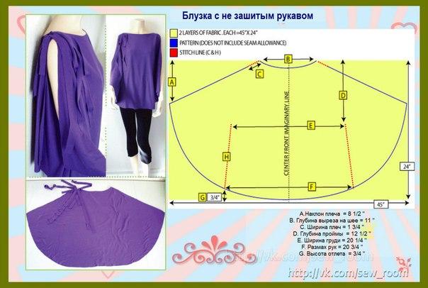 Как быстро сшить блузку своими руками без выкройки 5