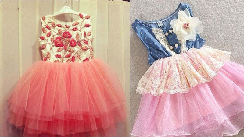Baby ruffle frock drafting, cutting and stitching step by step tutorial