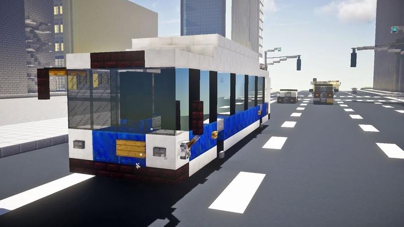 Minecraft NYC MTA New Flyer C40LF Bus Tutorial