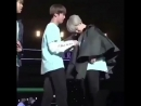 """Remember when jin pulled some big heart ninja shit and wrote """"army <3"""" on jimin's shirt without him finding out"""