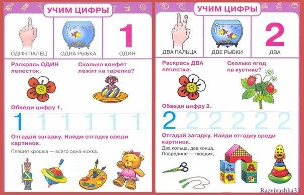 математика для малышей в картинках