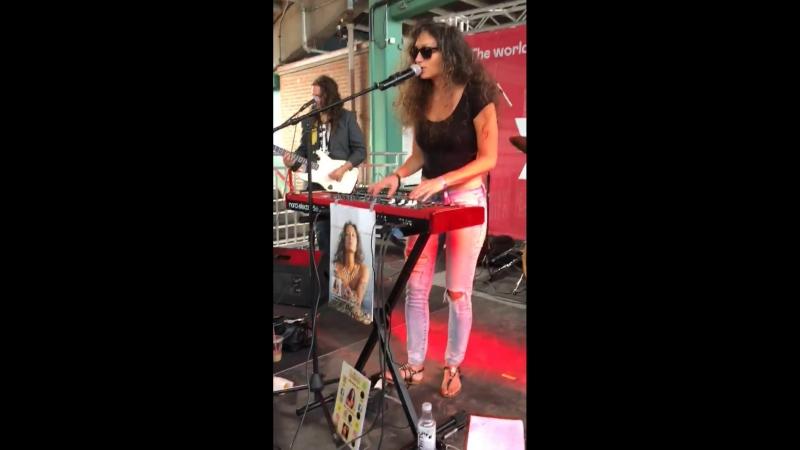 Lilla live on the YounkBoston music stage at Boston CollegeFest