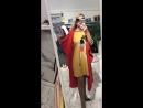 платье горчичное и оранжевая накидка